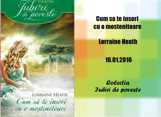 Cum să te însori cu o moştenitoare de Lorraine Heath
