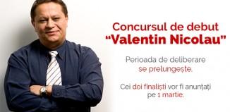 """Finaliștii concursului de debut în proză """"Valentin Nicolau"""" vor fi anunțați pe 1 martie 2016"""