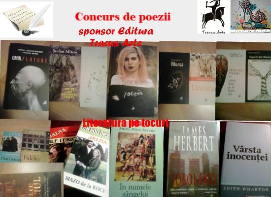 Portia lunara de poezie Concurs Editura Tracus Arte si Literatura pe tocuri