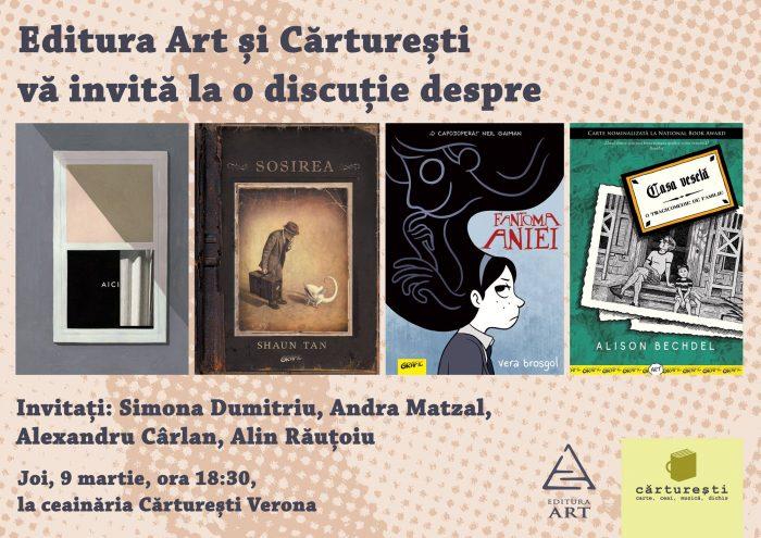 Întâlnire cu Romanul Grafic la Cărturești- Editura Art și Cărturești Verona