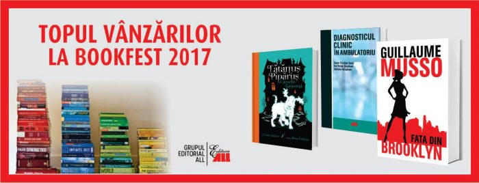 Topul vânzărilor Grupului Editorial ALL la Salonul Internațional de Carte Bookfest 2017