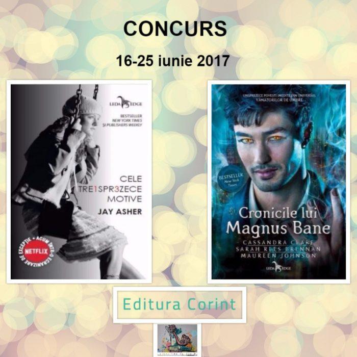 Concurs Editura Corint-Cronicile lui Magnus Bane și Cele treisprezece motive