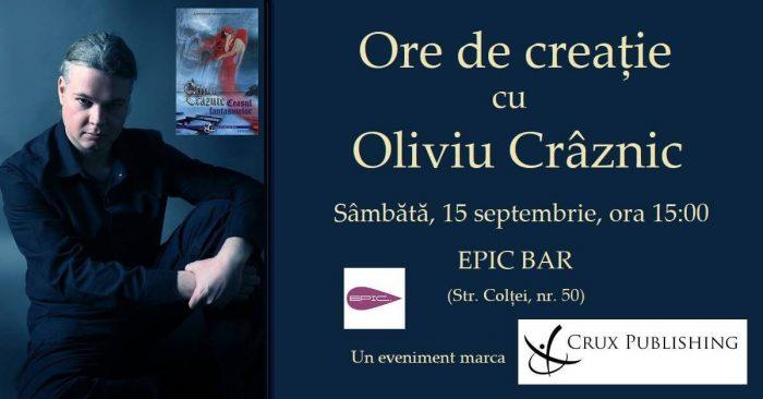 Invitatie eveniment Ore de creatie cu Oliviu Craznic