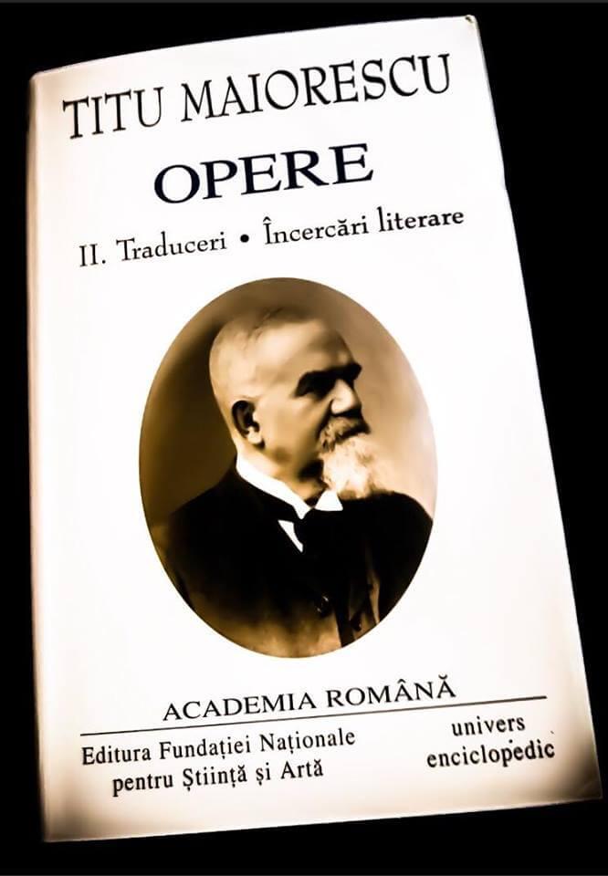 Titu Maiorescu-Opere-Critice, traduceri, încercări literare-vol. 2-recenzie