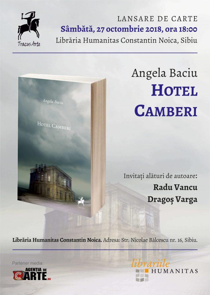 Hotel Camberi de Angela Baciu va fi lansat la Sibiu