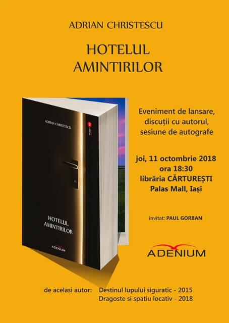 Hotelul amintirilor de Adrian Christescu-Editura Adenium-recenzie