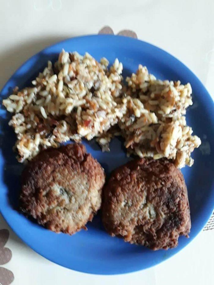 Chiftele de cartofi cu orez sălbatic