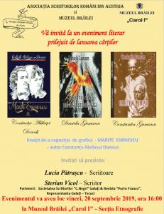 ASOCIAȚIA SCRIITORILOR ROMÂNI DIN AUSTRIA - evenimente literare - Braila
