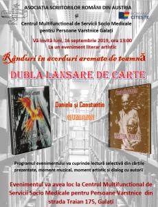 ASOCIAȚIA SCRIITORILOR ROMÂNI DIN AUSTRIA - evenimente literare - septembrie 2019