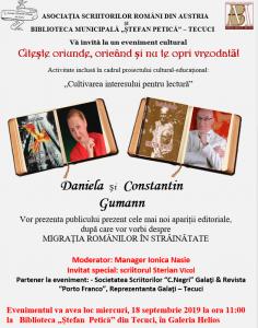 ASOCIAȚIA SCRIITORILOR ROMÂNI DIN AUSTRIA - evenimente literare - lansare de carte
