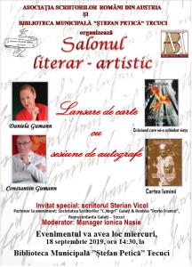 ASOCIAȚIA SCRIITORILOR ROMÂNI DIN AUSTRIA - evenimente literare - septembrie 2019 -