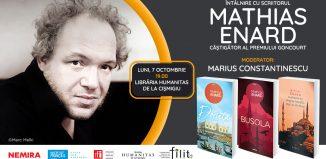 Mathias Enard în România – evenimente la Iași și la București