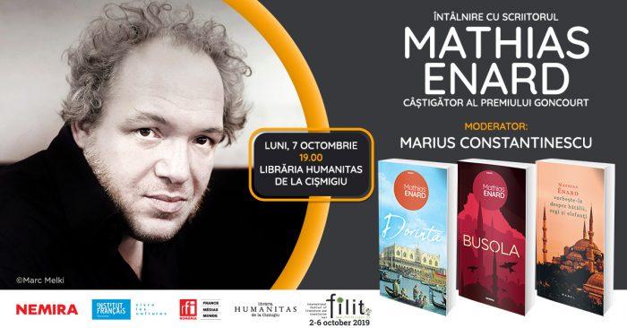 Dorință - Mathias Enard – lansat în prezența autorului, luni, 7 octombrie
