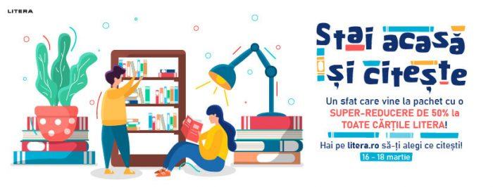 Stai acasă și citește!