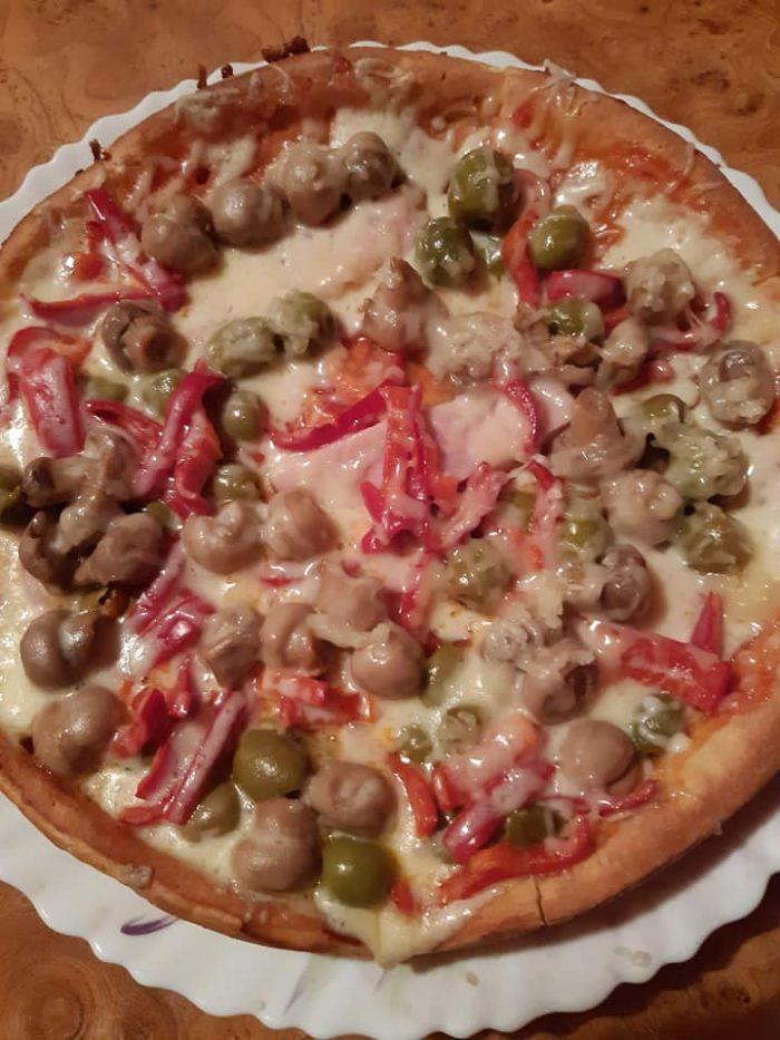 Supă cremă de ciuperci - Pizza la tigaie