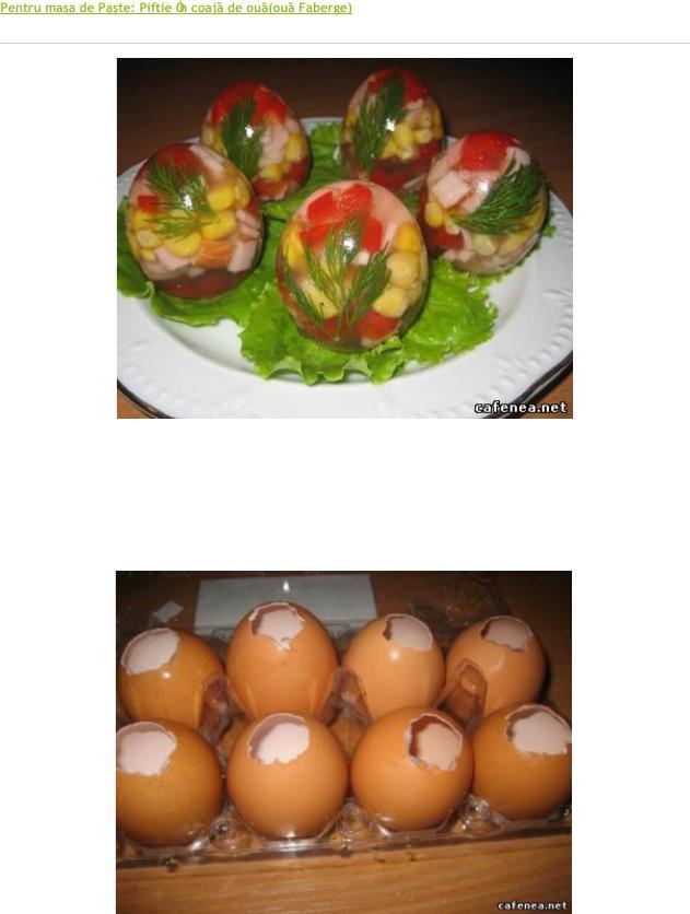 Piftie în coajă de ou