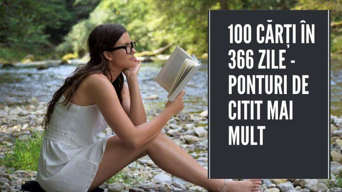100 cărți în 366 zile - ponturi de citit mai mult
