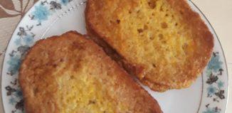 Pâine cu ou - Cartofi copți cu telemea, ceapă verde și rucola - Papanași