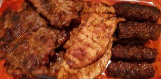 Ruladă aperitiv - Ciorbă acrișoară de legume cu carne de porc - Friptură